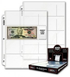 BCW 4 Pocket Pages Currency Box