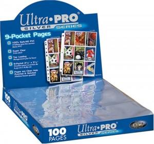 Ultra Pro 9 Pocket Page Silver