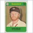 1978 SCANLENS CRICKET - No.31 David OGILVIE (QUEENSLAND)