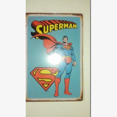 Superman Distressed Retro Vintage Tin Sign