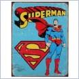 SUPERMAN  Distressed Retro Vintage Tin Sign 40cm x 31.5cm
