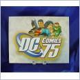 DC COMICS 75th ANNIVERSARY Distressed Retro Vintage Tin Sign 40cm x 31.5cm