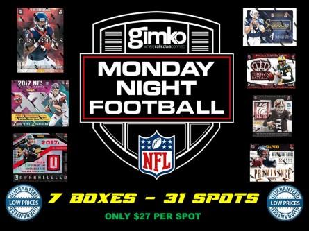 #742 NFL UNPARALLELED ORIGINS XR17 MONDAY
