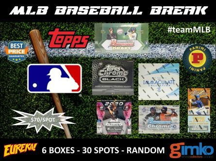 #1289 MLB BASEBALL 6 BOX BREAK