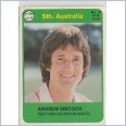 1978 SCANLENS CRICKET - No.37 Andrew SINCOCK (SOUTH AUSTRALIA)