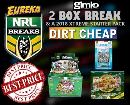 #1237 EUREKA SPORTS CARDS NRL DIRT CHEAP BREAK
