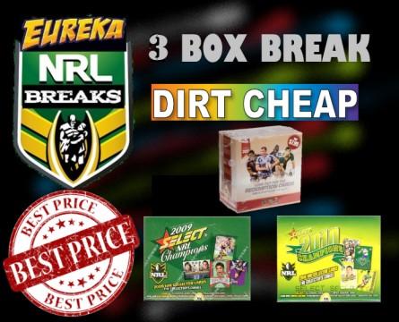 #1191 EUREKA SPORTS CARDS NRL DIRT CHEAP BREAK