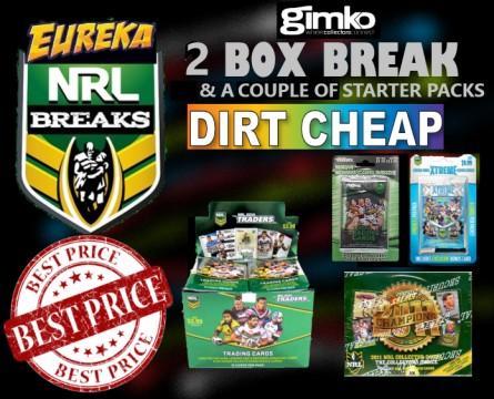 #1261 EUREKA SPORTS CARDS NRL DIRT CHEAP BREAK