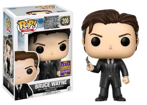 Justice League Movie - Bruce Wayne SDCC 2017 San Diego Comic Con Pop! Vinyl + Protector