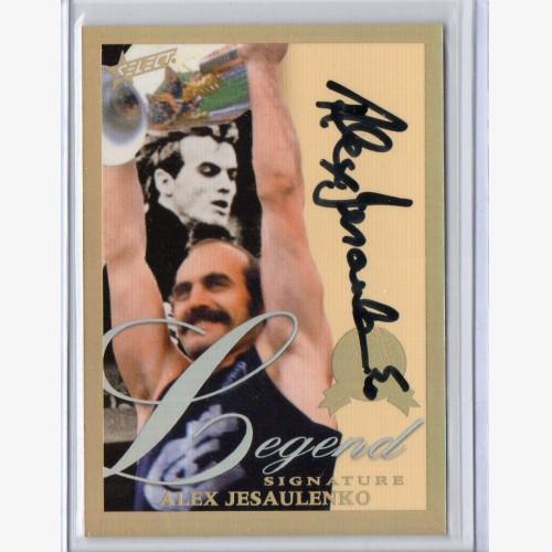 2012 Select Eternity Hall of Fame Legend Signature LGS14 Alex Jesaulenko 061/110 - Carlton Blues