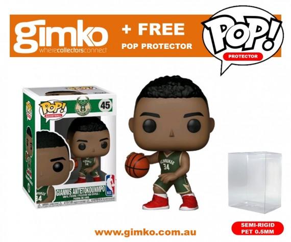 NBA - Giannis Antetokounmpo Pop! Vinyl (Bucks) + Protector