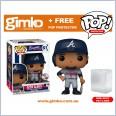 MLB Baseball - Ozzie Albies Atlanta Braves (Away Uniform) Pop! Vinyl (#61) + Protector