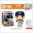 MLB Baseball - Christian Yelich Milwaukee Brewers (Away Uniform) Pop!  Vinyl (#62) + Protector