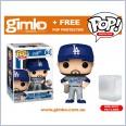 MLB Baseball - Cody Bellinger Los Angeles Dodgers (Away Uniform) Pop! Vinyl (#63) + Protector