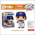 MLB Baseball - Javier Baez Chicago Cubs (Home Uniform) Pop! Vinyl (#64) + Protector