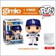 MLB Baseball - Cory Seager Los Angeles Dodgers (Home Uniform) Pop! Vinyl (#65) + Protector