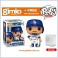 MLB Baseball - Mookie Betts Los Angeles Dodgers (Home Uniform) Pop! Vinyl (#74) + Protector