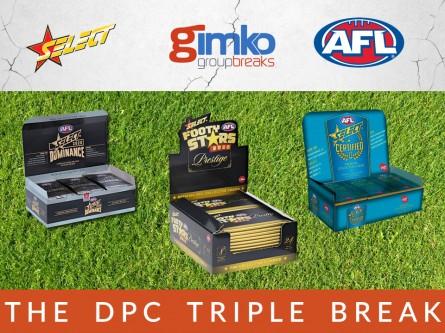 #1203 AFL FOOTBALL THE DPC TRIPLE  BREAK