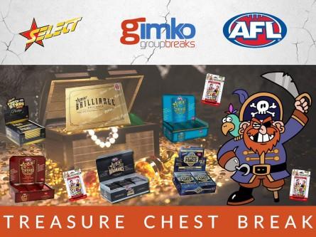 #1296 AFL FOOTBALL TREASURE CHEST  BREAK