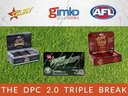 #1282 AFL FOOTBALL THE DPC 2.0 TRIPLE BOX BREAK