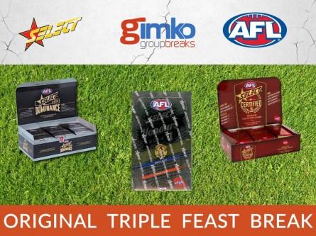 #1285 AFL FOOTBALL ORIGINAL TRIPLE FEAST BREAK
