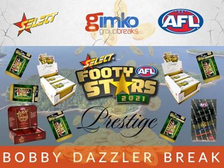 #1464 AFL FOOTBALL 2021 FOOTY STARS PRESTIGE BOBBY DAZZLER BREAK