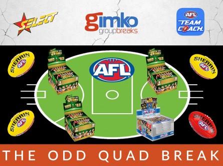 #1415 AFL FOOTBALL THE ODD QUAD BREAK