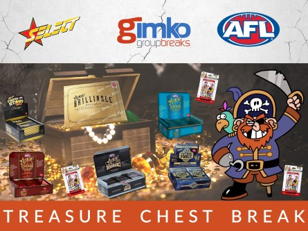 #1298 AFL FOOTBALL TREASURE CHEST  BREAK