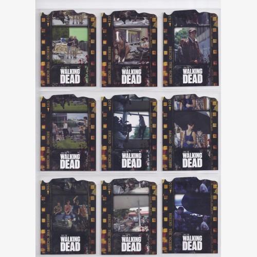 The Walking Dead Season 1 Chase Card Set  9 Die Cut Behind The Scenes Cards C01-C09