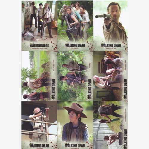 The Walking Dead Season 3 Part 1 Base 72 Card Set  Rick Grimes Daryl AMC