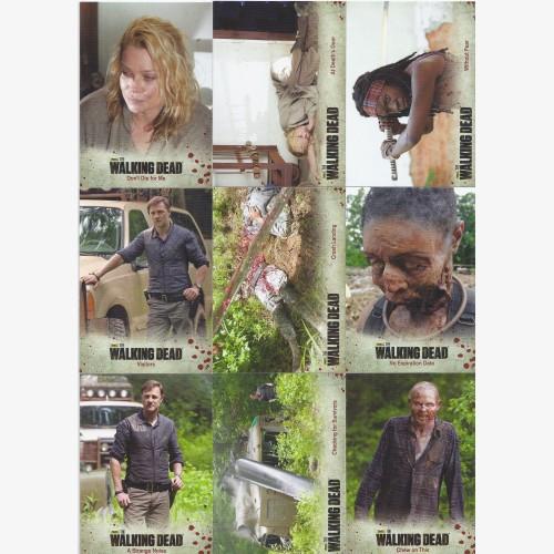 The Walking Dead Season 3 Part 2 Base 72 Card Set  Rick Grimes Daryl AMC