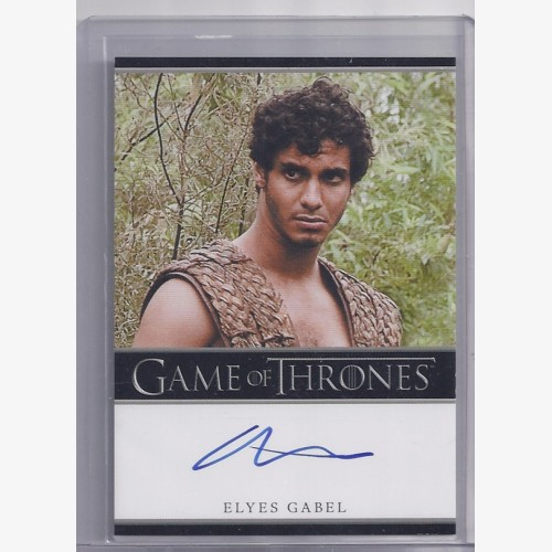 Game of Thrones Season One Autograph Card Bordered Elyes Gabel as RAKHARO