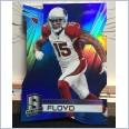 2014 NFL PANINI SPECTRA BLUE PRIZM DIE-CUT CARD MICHAEL FLOYD #22/25