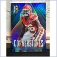 2014 NFL PANINI SPECTRA CORNERSTONES BLUE PRIZM CARD DERRICK JOHNSON #39/49
