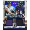 2014 NFL PANINI SPECTRA TEAMMATES COMBO JERSEY BLUE PRIZM CARD JOE FLACCO / BERNARD PIERCE #01/49