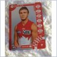 2013 AFL TEAMCOACH SILVER  CARD SYDNEY SWANS KIEREN JACK