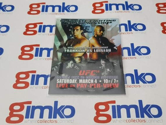 2009 UFC TOPPS UFC58 PAY-PER-VIEW POSTER REVIEW FIGHT CARD FPR-UFC58 FRANKLIN VS LOISEAU