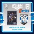 2021 NRL RUGBY LEAGUE TLA ELITE SILVER SPECIAL CARD SS 020 COREY ALLAN - CANTERBURY BULLDOGS