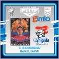 2021 NRL RUGBY LEAGUE TLA ELITE ENFORCERS CARD E 16 DANIEL SAIFITI - NEWCASTLE KNIGHTS
