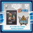 2021 NRL RUGBY LEAGUE TLA ELITE ALL-STARS CARD AS 14 PATRICK HERBERT - GOLD COAST TITANS