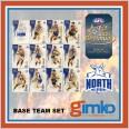 2021 AFL SELECT OPTIMUM 12 CARD BASE TEAM SET - NORTH MELBOURNE KANGAROOS