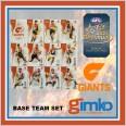 2021 AFL SELECT OPTIMUM 12 CARD BASE TEAM SET - GWS GIANTS