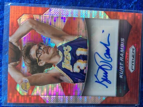 Kurt Rambis Los Angeles Lakers 2014-15 Panini Prizm Signature #136/149