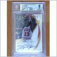 2007-08 Exquisite Collection Michael Jordan Exclusives Autographs 10/23 UD Upper Deck - Chicago Bulls - BGS 9