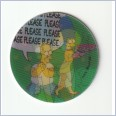 1996 THE SIMPSONS MAGIC MOTION TAZO  #144 HOMER & MARGE 💎⚡💎  Frito Lay 🔥 🌟🔥 RUFFLES/DORITOS 💥 MINT 💨