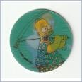 1996 THE SIMPSONS MAGIC MOTION TAZO  #175 HOMER SIMPSON 💎⚡💎  Frito Lay 🔥 🌟🔥 RUFFLES/DORITOS 💥 MINT 💨