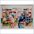 2010 topps gridiron lineage Joe Montana/Tom Brady NFL Card