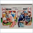 2010 Topps NFL gridiron lineage Joe Montana/Tom Brady
