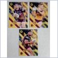 2021 NRL best & less 3 card common team set  Brisbane