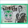 2021 NRL traders white Street arts card saw15 Kodi nikorima warriors